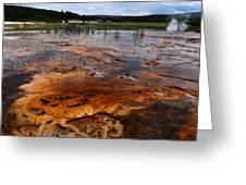 Rainbow Pool - Yellowstone Np Greeting Card