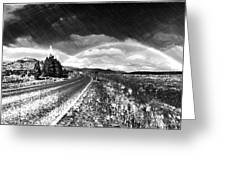 Rainbow Road - Id 16217-152021-8918 Greeting Card