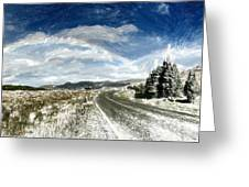 Rainbow Road - Id 16217-152040-7206 Greeting Card