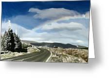 Rainbow Road - Id 16217-152042-9570 Greeting Card