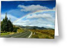 Rainbow Road - Id 16217-152055-0118 Greeting Card