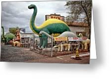 Rainbow Rock Shop Dino Greeting Card