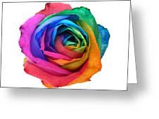 Rainbow Rose 01 Greeting Card