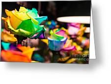 Rainbow Roses Greeting Card