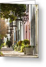 Rainbow Row Charleston Sc 2 Greeting Card