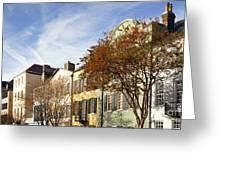 Rainbow Row Charleston Sc Greeting Card