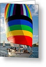Rainbow Sail Greeting Card