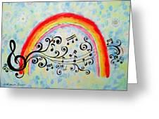 Rainbow Sings Greeting Card