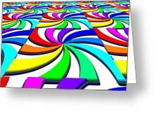 Rainbow Spectral Swirl Greeting Card