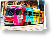 Rainbow Streetcar Greeting Card