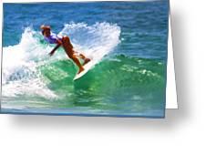Rainbow Surf Day Greeting Card
