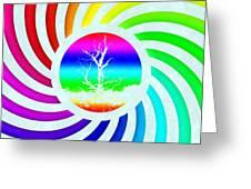 Rainbow Swirl Tree Greeting Card