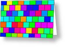 Rainbow Tiles Greeting Card
