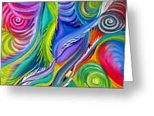 Rainbow Tornadoes Greeting Card