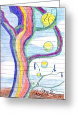 Rainbow Tree Revisited Greeting Card