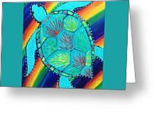 Rainbow Turtle Greeting Card