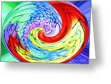 Rainbow Twirl Greeting Card