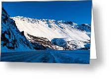 Rainbow Wall In Winter Greeting Card