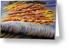 Rainbow Waves Greeting Card