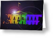 Rainbow White House Flare Greeting Card