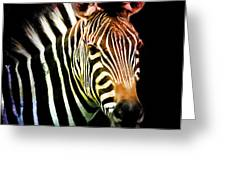 Rainbow Zebra Greeting Card