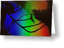 Rainbows And Stary Clouds Greeting Card