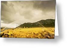 Raindrops In Rainbows Greeting Card