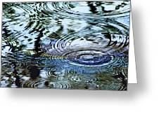 Raindrops On Water Greeting Card