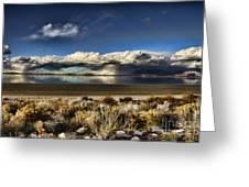 Rainfall Over The Salt Lake Greeting Card