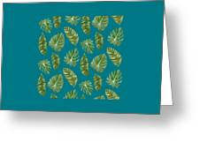 Rainforest Resort - Tropical Leaves Elephant's Ear Philodendron Banana Leaf Greeting Card