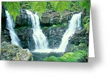 Rainforest Waterfalls Greeting Card