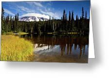 Rainier Capped Greeting Card