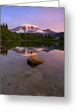 Rainier Dawn Breaking Greeting Card
