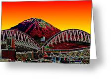 Rainier Over Qwest Field Greeting Card