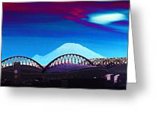 Rainier Over Sodo Greeting Card
