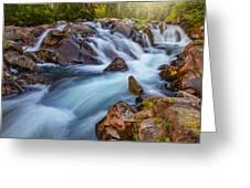 Rainier Runoff Greeting Card
