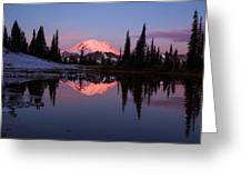 Rainier Sunrise Greeting Card