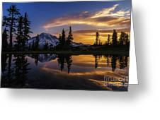 Rainier Sunrise Reflection #2 Greeting Card