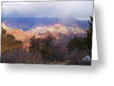 Raining In The Canyon Greeting Card
