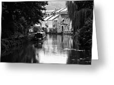 Raining On The Canal Greeting Card