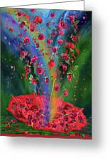 Raining Roses 2 Greeting Card