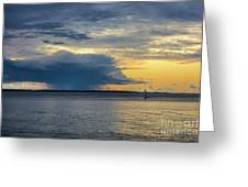 Rainstorm Offshore Greeting Card