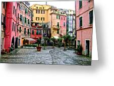 Rainy Afternoon In Vernazza Greeting Card