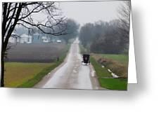 Rainy Amish Day Greeting Card