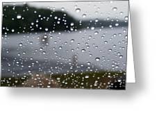 Rainy Day At The Lake Greeting Card