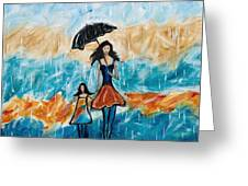 Rainy Day Blues Greeting Card