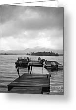 Rainy Day Dock Greeting Card