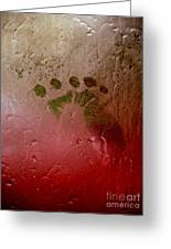Rainy Day Hand Fist Footprint Greeting Card