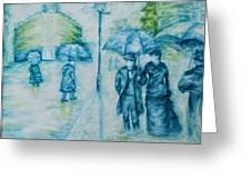 Rainy Day Impression Greeting Card