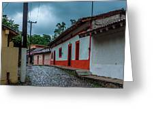 Rainy Day In Copala Greeting Card